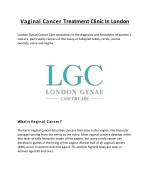 Vaginal Cancer Treatment Clinic In London