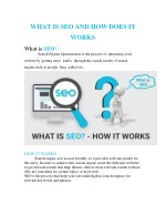 WHAT IS SEO AND HOW DOES IT WORKS