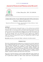 Antimicrobial activities of some substituted quinoxalin-2(1H)-one derivatives