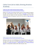 Cabin Crew Job in India Airwing Aviation Academy