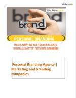 Personal Branding Agency | Marketing and branding companies