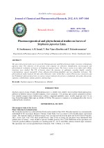 PPT - Pharmacognosy course out lines PowerPoint Presentation