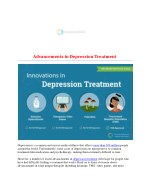Advancements in Depression Treatment
