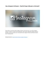 Buy Instagram Followers - Real & Cheap Followers at Famoid!