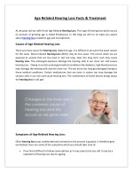 Age Related Hearing Loss Facts & Treatment