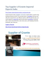 Top Supplier of Granite Imperial Exports India