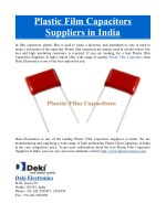 Plastic Film Capacitors Suppliers in India
