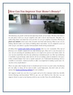 How Can You Improve Your Home