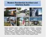 Modern Residential Architect and Interiors Austin