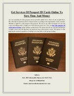 Get Services Of Passport ID Cards Online To Save Time And Money
