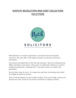 DISPUTE RESOLUTION AND DEBT COLLECTION SOLICITORS