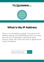 What is My IP Address Lookup
