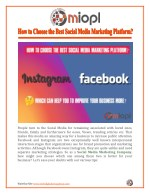 How to Choose the Best Social Media Marketing Platform?