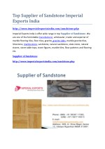 Top Supplier of Sandstone Imperial Exports India
