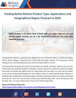 Feeding Bottle Market Product Type, Applications and Geographical Region Forecast to 2022