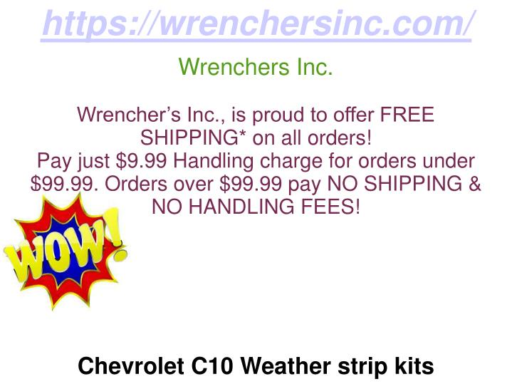 PPT - Chevrolet C10 Weather strip kits, Chevrolet C10 Door Seal