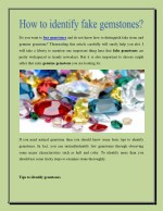 How to identify fake gemstones