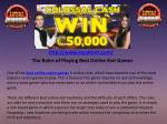 The Rules of Playing Best Online Slot Games
