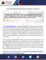 Corn Wet Milling Market Trends, Dynamics and Share