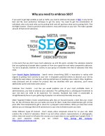 Why you need to embrace SEO?