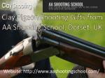 Clay Pigeon Shooting Gifts from AA Shooting School, Dorset