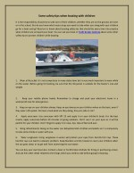 Some safety tips when boating with children