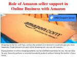 Role of Amazon seller support in Online Business with Amazon