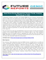 Smart Home Energy Management System Report on Global and United States Market, Status and Forecast, by Players, Types an