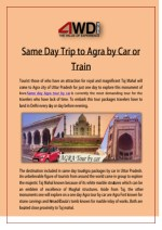 Same Day Trip to Agra by Car or Train