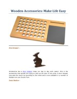 Wooden Accessories: Make Life Easy