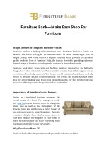Furniture Bank—Make Easy Shop For Furniture