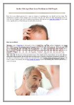 In the Old Age Hair Loss Problem in old People