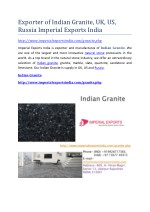 Exporter of Indian Granite, UK, US, Russia Imperial Exports India