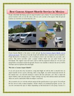 Best Cancun Airport Shuttle Service in Mexico