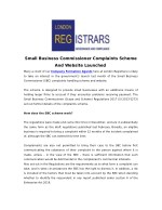 Small Business Commissioner Complaints Scheme And Website Launched