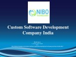 Custom Software Development Company,Custom Software Application Development India - NIBO Technologies