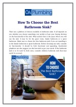 How To Choose the Best Bathroom Sink?