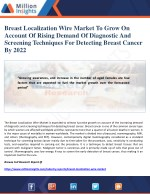 Breast Localization Wire Market To Grow On Account Of Rising Demand Of Diagnostic And Screening Techniques For Detecting