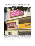 Indira Womens Clinic and Birth Centre and Dr. Padma Chennupaty