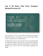 Top 5 UX Rules That Every Designer Should Be Aware Of
