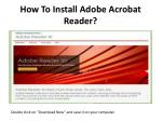 How To Install Adobe Acrobat Reader?