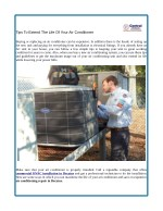 Tips To Extend The Life Of Your Air Conditioner