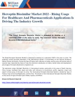 Herceptin Biosimilar Market 2022 - Rising Usage For Healthcare And Pharmaceuticals Applications Is Driving The Industry