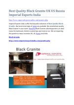 Best Quality Black Granite UK US Russia Imperial Exports India