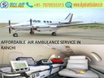 Advanced Sky Air Ambulance service in Ranchi with Medical Team