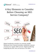 Key Elements to Consider Before Choosing an SEO Service Company!