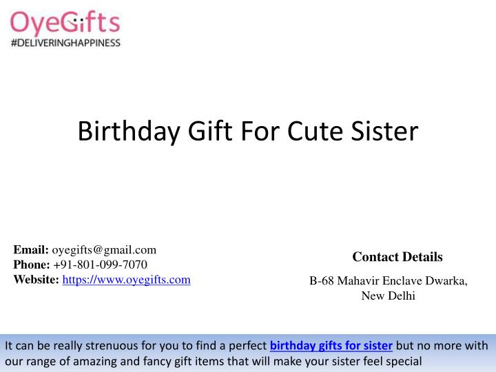 Birthday Gift For Cute Sister N