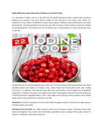 Iodine deficiency causes thousands of diseases so eat these foods