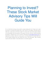 Planning to Invest? These Stock Market Advisory Tips Will Guide You