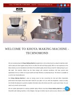 Khoya Making Machine | 09899016380